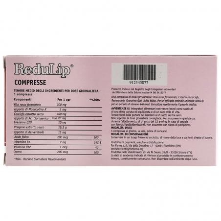 immagine della confezione integratore ReduLip 30 capsule For Farma, componenti e avvertenze