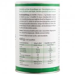 immagine della confezione di Stevia base Gr 400 | dolcificante naturale. ingredienti e valori nutrizionali