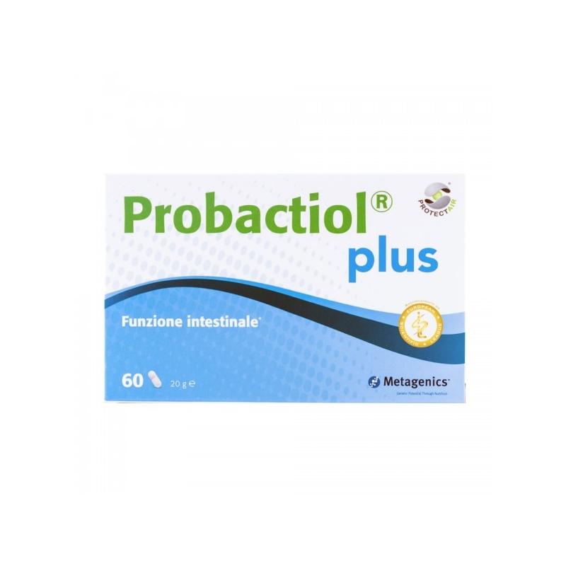 immagine della confezione dell'integratore di Metagenics Probactiol Plus 60 capsule