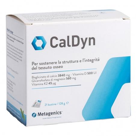 immagine della confezione integratore Caldyn, 21 bustine Metagenics, vista frontale