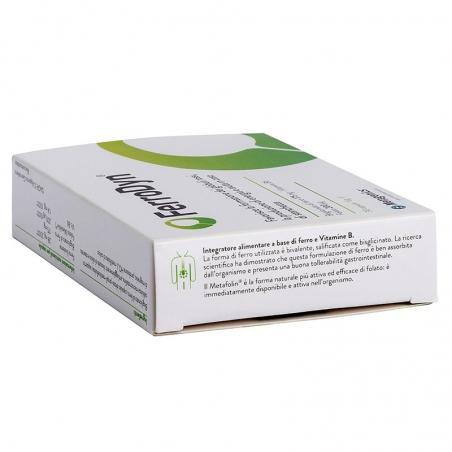 immagine della confezione Integratore FerroDyn 30 capsule di Metagenics, indicazioni