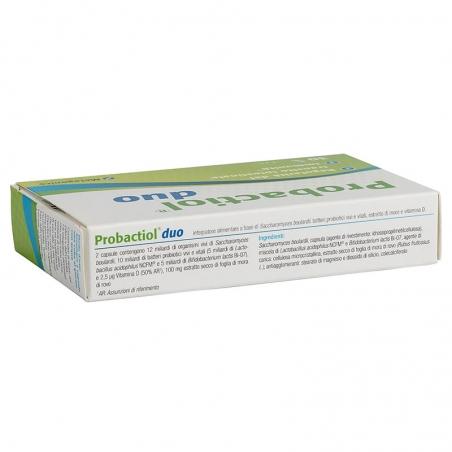 immagine della confezione Integratore Probactiol Duo 30 capsule di Metagenics, ingredienti