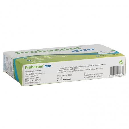 immagine della confezione Integratore Probactiol Duo 30 capsule di Metagenics, indicazioni