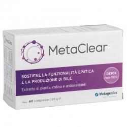 immagine della confezione Integratore MetaClear 60 compresse di Metagenics, vista frontale