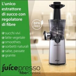 Extractor de zumos Juicepresso siQuri con Fiber Control   BPA free