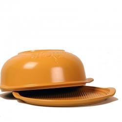Molde para pan y pizza laBell by siQuri en arcilla natural   diámetro 32 cm