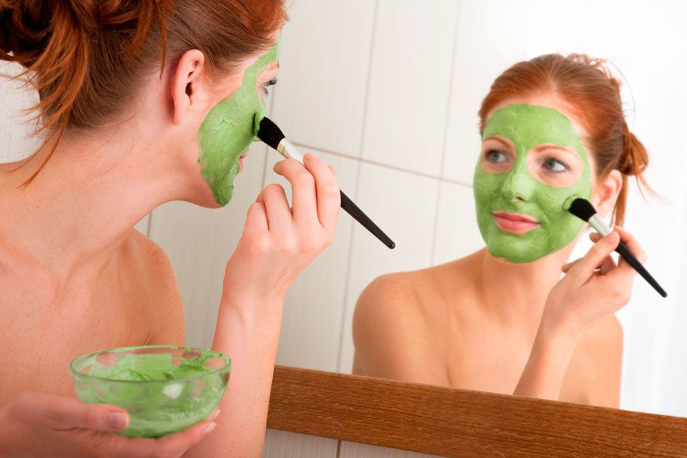 Maschera con gli scarti dell'estrattore Essenzia Pro Green