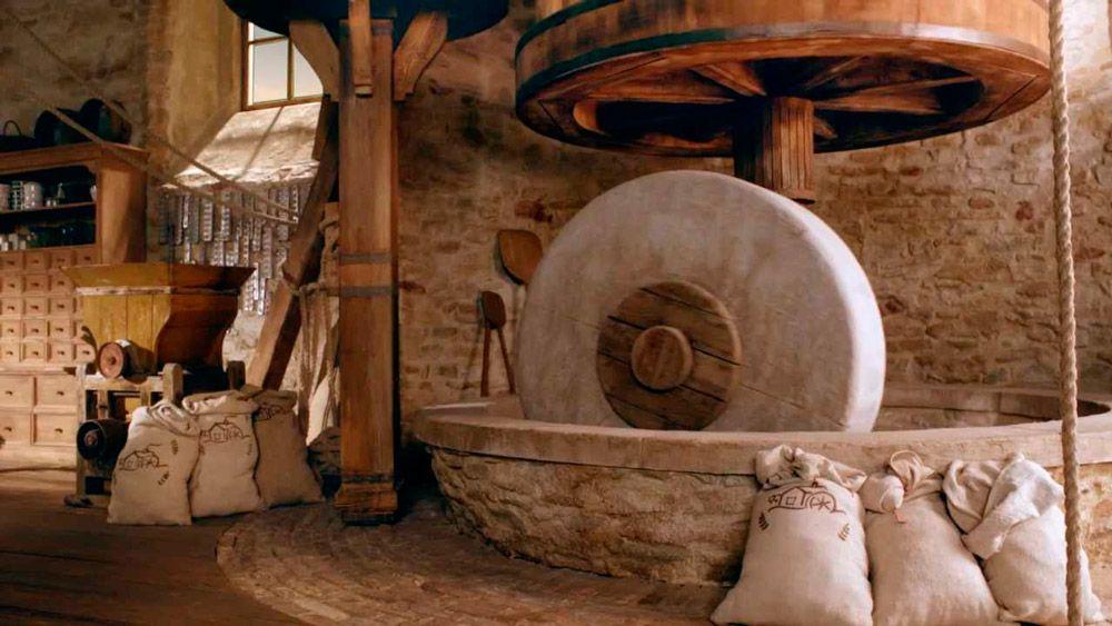 Macine a pietra mulino antico