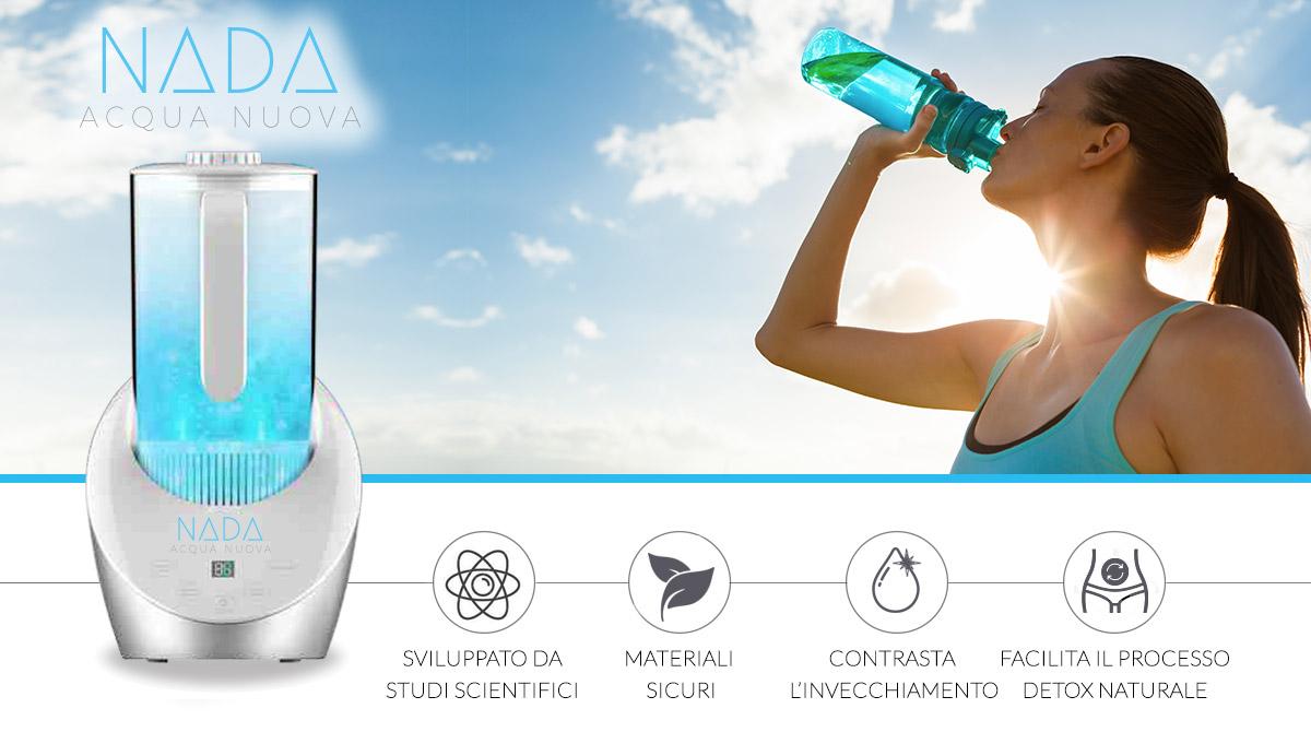 GENERATORE DI ACQUA IDROGENATA H2 NADA | Acqua Alcalinizzante Antiossidante Anti-infiammatoria