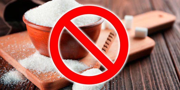 Immagine divieto di zucchero nelle marmellate